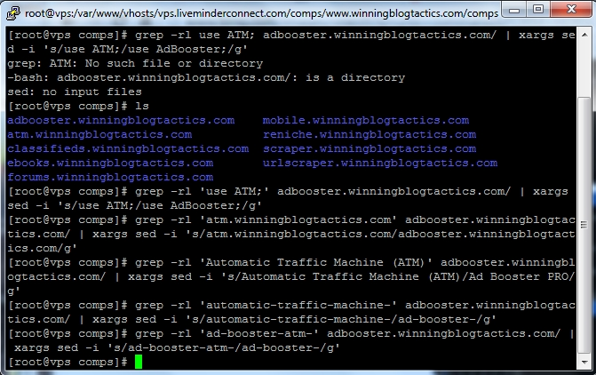 Search and Replace Strings with Grep in UNIX