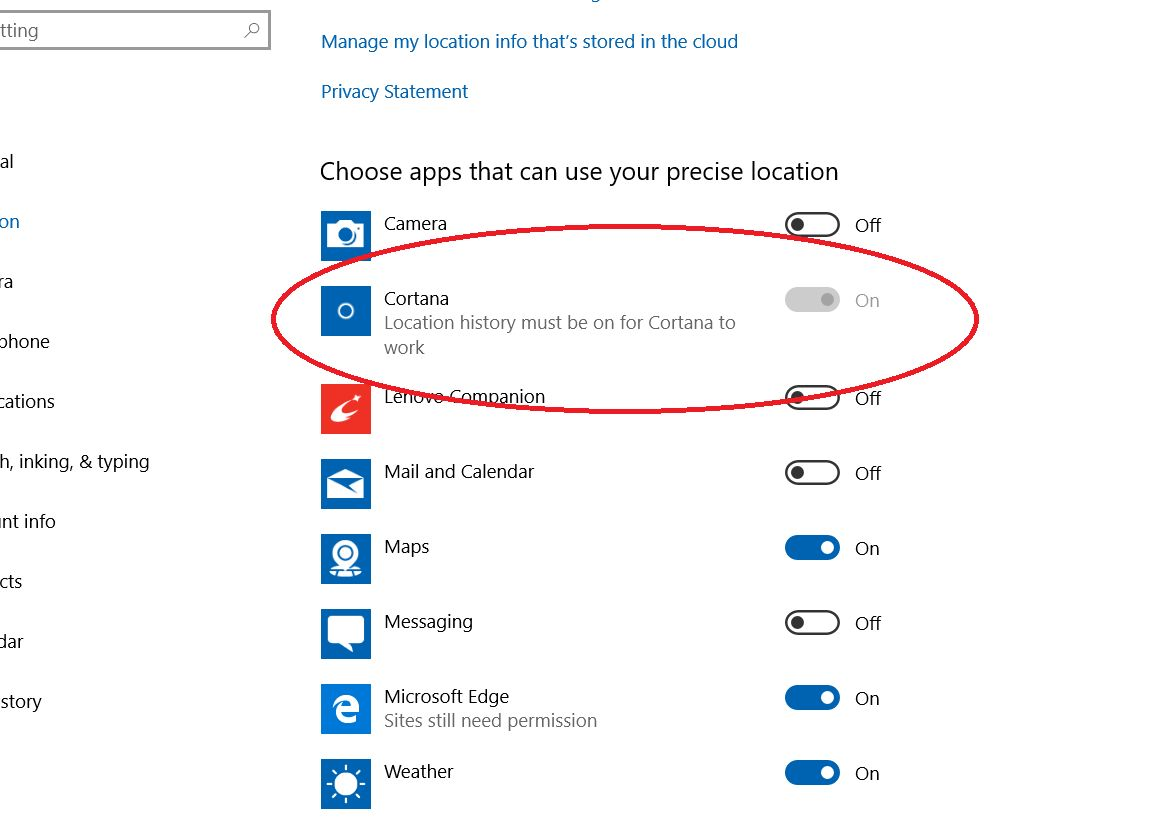 SOLVED - Cortana Location Services Can't Turn On Greyed Out