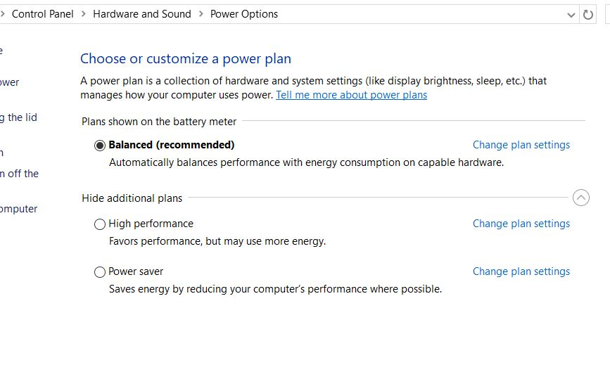 SOLVED Missing High Performance and Power Saver Plans in Power Options in Windows 10