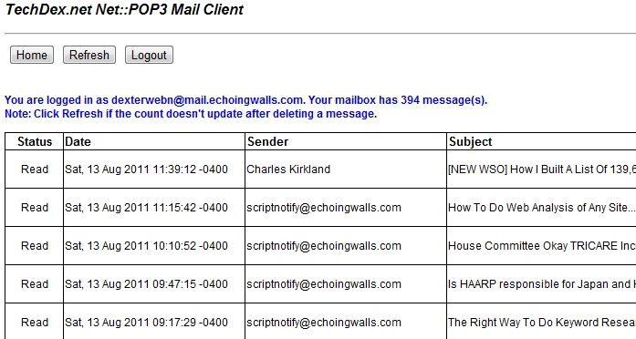 Perl pop3 email client 2
